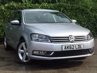2012 VOLKSWAGEN PASSAT 2.0 SE TDI BLUEMOTION TECHNOLOGY 5d 139 BHP £8500.00
