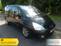 USED 2011 11 RENAULT ESPACE 2.0 DYNAMIQUE TOMTOM DCI 5d 150 BHP FANTASTIC VALUE NICE SPEC RENAULT ESPACE WITH SEVEN SEATS, SATELLITE NAVIGATION, HALF LEATHER SEATS, CLIMATE CONTROL, CRUISE CONTROL, ALLOY WHEELS AND SERVICE HISTORY
