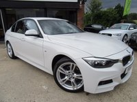 "USED 2014 14 BMW 3 SERIES 2.0 320D M SPORT 4d AUTO 181 BHP 1 PREVIOUS OWNER, SAT NAV, FULL LEATHER, HEATED FRONT SEATS, 18"" ALLOYS, CLIMATE CONTROL, PARKING SENSORS, FULL SERVICE HISTORY, SPARE KEY"