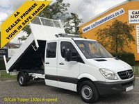 USED 2011 61 MERCEDES-BENZ SPRINTER 313 CDI Lwb D/Crew Cab Tipper Low Mileage Ex Council Free UK Delivery