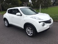 USED 2012 12 NISSAN JUKE 1.5 TEKNA DCI 5d 110 BHP TOP SPEC WITH FSH IN WHITE WITH BLACK LEATHER