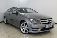 USED 2012 62 MERCEDES-BENZ C CLASS 2.1 C250 CDI BLUEEFFICIENCY AMG SPORT 2DR AUTOMATIC 204 BHP FULL MERCEDES SERVICE HISTORY + HALF LEATHER SEATS + SAT NAVIGATION* + PARKING SENSOR + BLUETOOTH + CRUISE CONTROL+ MULTI FUNCTION WHEEL + 18 INCH ALLOY WHEELS