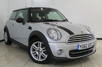 USED 2013 62 MINI HATCH COOPER 1.6 COOPER 3DR 122 BHP FULL SERVICE HISTORY + HALF LEATHER SEATS + AIR CONDITIONING + CRUISE CONTROL + MULTI FUNCTION WHEEL + 15 INCH ALLOY WHEELS