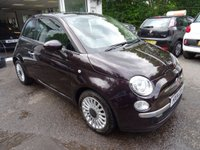 USED 2014 14 FIAT 500 0.9 TWINAIR LOUNGE 3d 85 BHP Low Mileage, Comprehensive Service History + Just Serviced by ourselves, One Lady Owner from new, NEW MOT (minimum 10 months), Excellent on fuel! FREE Road Tax!