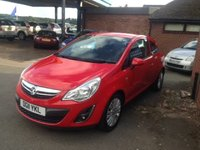 USED 2011 11 VAUXHALL CORSA 1.2 EXCITE AC 3d 83 BHP ONE OWNER