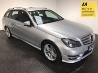 USED 2012 12 MERCEDES-BENZ C CLASS 2.1 C220 CDI BLUEEFFICIENCY SPORT 5d AUTO 168 BHP FSH-LEATHER-BLUETOOTH-ALLOYS-A/C
