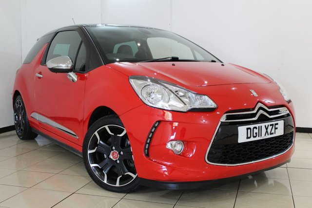 View our 2011 11 CITROEN DS3 1.6 THP DSPORT PLUS 3DR 150 BHP