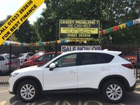 USED 2013 63 MAZDA CX-5 2.2 D SE-L 5d 148 BHP 2 OWNERS, MAZDA SERVICE HISTORY, STUNNING ALASKAN WHITE PAINT,  LOVELY BLACK CLOTH INTERIOR, FRONT AND REAR PARKING SENSORS, AIR CON, ALLOY WHEELS, CRUISE CONTROL, BLUETOOTH