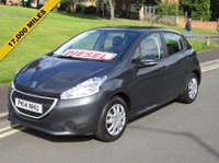 "USED 2014 14 PEUGEOT 208 1.4 ACCESS PLUS HDI 5d 68 BHP FULL MAIN DEALER SERVICE HISTORY - 17,000 GUARANTEED MILES - 1 OWNER FROM NEW - ""0"" ROAD TAX"