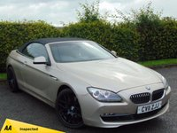 USED 2011 11 BMW 6 SERIES 3.0 640I SE 2d AUTOMATIC convertible * AUTOMATIC CONVERTIBLE * FULL HEATED INTERIOR *