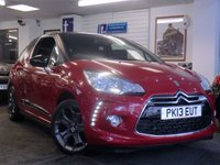 2013 CITROEN DS3 1.6 E-HDI DSTYLE PLUS 3d 90 BHP £7499.00