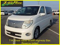 2005 NISSAN ELGRAND 2.5 Highway Star 2.5 Automatic 8 Seats £7000.00