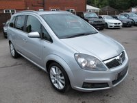 2005 VAUXHALL ZAFIRA DESIGN 16V 5d 154 BHP 7 SEAT MPV + LOW MILES  £2399.00