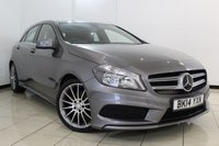 USED 2014 14 MERCEDES-BENZ A CLASS 1.8 A200 CDI BLUEEFFICIENCY AMG SPORT 5DR 136 BHP HALF LEATHER SEATS + AIR CONDITIONING + BLUETOOTH + CRUISE CONTROL + MULTI FUNCTION WHEEL + 18 INCH ALLOY WHEELS