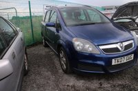USED 2007 07 VAUXHALL ZAFIRA 1.6 CLUB 16V 5d 105 BHP NOT AVAILABLE ON FINANCE.