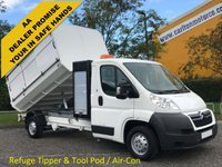 USED 2011 11 CITROEN RELAY 35 L3 HDI LWB Refuge-Tipper Pod Tool box, A/C Low Mileage Free UK Delivery