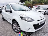 USED 2011 61 RENAULT CLIO 1.1 DYNAMIQUE TOMTOM 16V 3d 75 BHP HALF LEATHER + SAT NAV