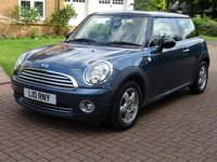 USED 2010 10 MINI HATCH COOPER 1.6 COOPER 3d 122 BHP GREAT EXAMPLE OF LOW MILEAGE***  1 PREVIOUS KEEPER**   FULL YEAR MOT***