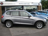 USED 2013 13 BMW X3 2.0 XDRIVE20D SE 5d AUTO 181 BHP One owner Full BMW History Navigation 4 wheel drive Bluetooth Heated seats Leather