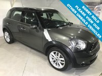 USED 2012 62 MINI COUNTRYMAN 1.6 ONE D 5d 90 BHP Pepper Pack Only £30 a year road tax, Full service history,    Bluetooth,    Air-Conditioning,    17-inch alloy wheels