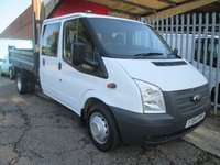 2014 FORD TRANSIT 350 Double Cab Steel Tipper 100 PS *ONE OWNER*TWIN REAR WHEEL* £11495.00