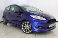 USED 2016 66 FORD FIESTA 1.0 ST-LINE 3DR 139 BHP AIR CONDITIONING + 0% FINANCE AVAILABLE T&C'S APPLY + SAT NAVIGATION + PARKING SENSOR + BLUETOOTH + MULTI FUNCTION WHEEL + ALLOY WHEELS