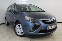 USED 2014 14 VAUXHALL ZAFIRA TOURER 2.0 EXCLUSIV CDTI 5DR AUTOMATIC 162 BHP FULL VAUXHALL SERVICE HISTORY + 0% FINANCE AVAILABLE T&C'S APPLY + AIR CONDITIONING + 7 SEATS + PARKING SENSOR + CRUISE CONTROL + MULTI FUNCTION WHEEL + 17 INCH ALLOY WHEELS