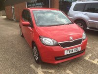 USED 2014 14 SKODA CITIGO 1.0 SE 12V 5 DOOR 59 BHP ONLY 24K MILES IN BRIGHT RED APPROVED CARS ARE PLEASED TO OFFER THIS SKODA CITIGO 1.0 SE 12V 5 DOOR 59 BHP WITH ONLY 24K MILES FROM NEW IN BRIGHT RED A GREAT LITTLE CAR WITH A FULL SERVICE HISTORY AN IDEAL FIRST CAR WITH A SMALL ENGINE LOW TAX AND CHEAP INSURANCE.