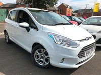 USED 2014 14 FORD B-MAX 1.5 ZETEC TDCI 5d 74 BHP EXCELLENT FUEL ECONOMY!!..LOW CO2 EMISSIONS(109G/KM)..£20 ROAD TAX..FULL FORD HISTORY....ONLY 12187 MILES!!...WITH PARKING SENSORS , HEATED FRONT SCREEN AND ALLOY WHEELS!!