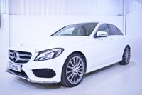 USED 2015 51 MERCEDES-BENZ C CLASS 2.1 C220d AMG Line (Premium) 4dr (start/stop) HUGE SPEC Red leather PanRoof+