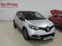 USED 2016 66 RENAULT CAPTUR 1.5 DYNAMIQUE S NAV DCI 5d 90 BHP with Black Roof