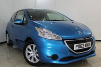 USED 2012 62 PEUGEOT 208 1.2 ACCESS PLUS 3DR 82 BHP FULL SERVICE HISTORY + CRUISE CONTROL + AIR CONDITIONING + RADIO/CD + AUXILIARY PORT