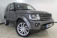 USED 2014 14 LAND ROVER DISCOVERY 3.0 SDV6 XS 5DR AUTOMATIC 255 BHP SAT NAVIGATION + REVERSE CAMERA + BLUETOOTH + CRUISE CONTROL + MULTI FUNCTION WHEEL + 19 INCH ALLOY WHEELS