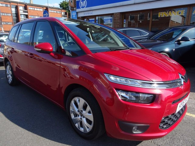 2015 15 CITROEN C4 PICASSO 1.6 GRAND BLUEHDI EXCLUSIVE PLUS 7 SEATER 5d AUTO 118 BHP RUBY RED/GREY FABRIC