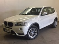 USED 2014 14 BMW X3 2.0 XDRIVE20D SE 5d 181 BHP SAT NAV LEATHER ONE OWNER FSH 4WD. SATELLITE NAVIGATION. STUNNING WHITE WITH FULL BLACK LEATHER TRIM. HEATED SEATS. CRUISE CONTROL. 17 INCH ALLOYS. COLOUR CODED TRIMS. PARKING SENSORS. ELECTRIC TAILGATE. BLUETOOTH PREP. CLIMATE CONTROL. R/CD PLAYER. 6 SPEED MANUAL. MFSW. MOT 08/18. ONE OWNER FROM NEW. FULL DEALER SERVICE HISTORY. FCA FINANCE APPROVED DEALER. TEL 01937 849492