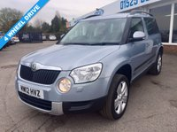 USED 2012 12 SKODA YETI 2.0 TDI CR SE Station Wagon DSG 4x4 5dr **4 WHEEL DRIVE AUTO**