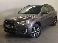 USED 2015 15 MITSUBISHI ASX 2.3 DI-D 4 5d AUTO 147 BHP 4WD SAT NAV PAN ROOF LEATHER FSH NO FINANCE REPAYMENTS FOR 2 MONTHS STC. FACELIFT 4WD. SATELLITE NAVIGATION. PANORAMIC SUNROOF. STUNNING BROWN MET WITH FULL BLACK LEATHER TRIM. ELECTRIC HEATED SEATS. CRUISE CONTROL. 17 INCH ALLOYS. COLOUR CODED TRIMS. PRIVACY GLASS. PARKING SENSORS. REVERSING CAMERA. BLUETOOTH PREP. AIR CON. R/CD PLAYER. PADDLESHIFT AUTO. MFSW. ONE PREV OWNER. FULL DEALER SERVICE HISTORY. FCA FINANCE APPROVED DEALER. TEL 01937 849492