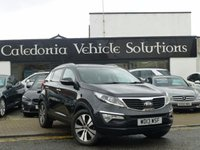 USED 2013 13 KIA SPORTAGE 2.0 CRDI KX-3 SAT NAV 5d 134 BHP ONE OWNER FROM NEW with FULL SERVICE HISTORY & A JUNE 2018 MOT