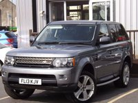 USED 2013 13 LAND ROVER RANGE ROVER SPORT 3.0 SDV6 HSE BLACK 5d AUTO 255 BHP STUNNING EXAMPLE WITH FULL DEALER SERVICE HISTORY INC 4 SERVICE VISITS MUST BE SEEN