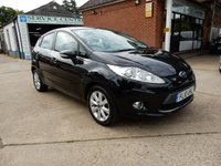 USED 2010 10 FORD FIESTA 1.2 ZETEC 5d 81 BHP SERVICE HISTORY,TWO KEYS,AUX PORT,AIR CON