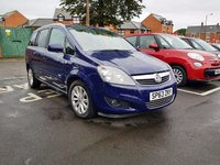 USED 2013 63 VAUXHALL ZAFIRA 1.7 DESIGN NAV CDTI ECOFLEX 5d 108 BHP WITH SATELLITE NAVIGATION, CLIMATE CONTROL, ALLOY WHEELS AND PARKING SENSORS!!..EXCELLENT FUEL ECONOMY!..LOW CO2 EMISSIONS(134G/KM)..LOW ROAD TAX...FULL VAUXHALL SERVICE HISTORY...ONLY 8485 MILES FROM NEW!!