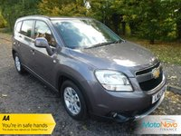 USED 2012 12 CHEVROLET ORLANDO 2.0 LTZ VCDI 5d AUTO 163 BHP FANTASTIC TOP OF THE RANGE ORLANDO LTZ AUTOMATIC WITH ONE PREVIOUS LADY OWNER, CLIMATE CONTROL, CRUISE CONTROL, ALLOY WHEELS AND SERVICE HISTORY