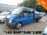 USED 2008 08 FORD TRANSIT Dropside 2.4 TDCi 350 DOUBLE CAB LWB EF 140 BHP *54,000 MILES*