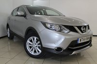 USED 2014 14 NISSAN QASHQAI 1.5 DCI ACENTA SMART VISION 5DR 108 BHP NISSAN SERVICE HISTORY + PARKING SENSOR + BLUETOOTH + CRUISE CONTROL + MULTI FUNCTION WHEEL + 17 INCH ALLOY WHEELS