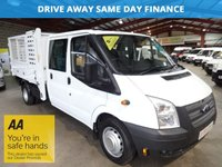 2012 FORD TRANSIT 2.2 350 DRW CREW CAB / DOUBLE CAB TWIN WHEEL CAGE TIPPER ONE OWNER*LOW MILEAGE*  £10750.00