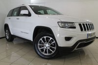 USED 2014 64 JEEP GRAND CHEROKEE 3.0 V6 CRD LIMITED 5DR AUTOMATIC 247 BHP HEATED LEATHER SEATS + CLIMATE CONTROL + REVERSE CAMERA + BLUETOOTH + CRUISE CONTROL + MULTI FUNCTION WHEEL + 18 INCH ALLOY WHEELS