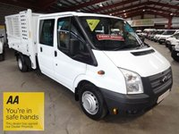 2012 FORD TRANSIT 2.2 350 DRW CREW CAB / DOUBLE CAB TWIN WHEEL CAGE TIPPER **LOW MILEAGE-ONE OWNER**  £10995.00