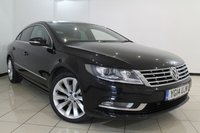 USED 2014 14 VOLKSWAGEN CC 2.0 GT TDI BLUEMOTION TECHNOLOGY 4DR 138 BHP FULL SERVICE HISTORY + HEATED LEATHER SEATS + SAT NAVIGATION + PARKING SENSOR + BLUETOOTH + CRUISE CONTROL + MULTI FUNCTION WHEEL + ALLOY WHEELS