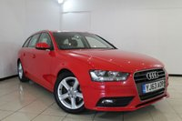 USED 2013 63 AUDI A4 2.0 AVANT TDIE SE TECHNIK 5DR 161 BHP SERVICE HISTORY + HEATED LEATHER SEATS + CLIMATE CONTROL + SAT NAVIGATION + BLUETOOTH + CRUISE CONTROL + MULTI FUNCTION WHEEL + ALLOY WHEELS