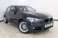 USED 2013 13 BMW 1 SERIES 2.0 118D SE 5DR 141 BHP SERVICE HISTORY + AIR CONDITIONING + BLUETOOTH + CRUISE CONTROL + MULTI FUNCTION WHEEL + ALLOY WHEELS